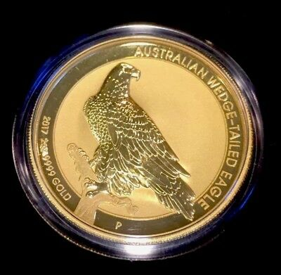 2017 P 2 Oz. Gold Wedge-Tailed Eagle Reverse Proof Australia Mintage: 150 KEY