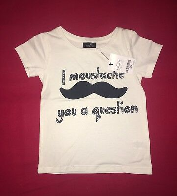 Next Baby Boy BNWT Outlet Special Moustache Slogan T-Shirt 12-18 Months