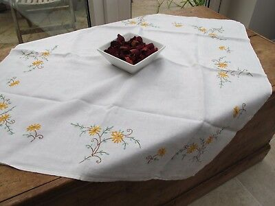 Vintage Embroidered Table cloth Square Embroidered