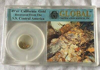 49'er California Shipwreck Gold - SS Central America - COA