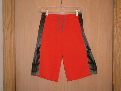 Under Armour Boys Youth Large YLG Loose Bright Orange Basketball Football Shorts