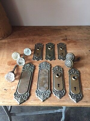 Junk Drawer Lot Vintage Door Knobs  Door Plates Antique Hardware