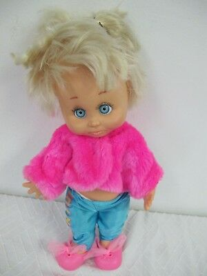 Baby Face Doll #6 So Sorry Sarah With Fun Fur Outfit Cute Vintage Galoob 1990