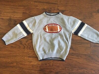 Boys Gymboree football gray sweater 4T
