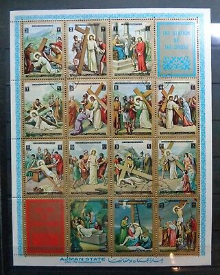 "Briefmarken Bogen ""The station of the Cross"" / ""The life of Jesus Christ"""