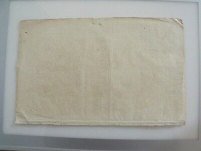 Ancient Antique Blank Paper Sheet 16Th Century For Art Or Calligraphy