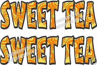 "Sweet Tea Decal (2) 18"" Concession Food Truck Restaurant Vinyl Letters"