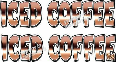 "Iced Coffee Decal (2) 18"" Concession Food Truck Restaurant Vinyl Letters"