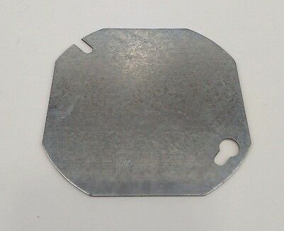 Round Corner 3 1/2 in. Metal Electrical Box Plate Cover MM Keyhole