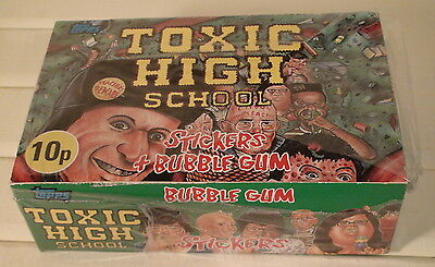 Toxic High School Sealed Box Of 36 Packs Of Collectors Stickers