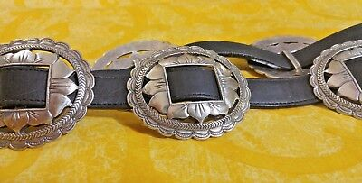 BRIGHTON-Vintage-1993-black Sunflower-Concho-Belt-Size-L-47307  BRIGHTON L47303