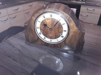 antique enfield wooden mantle clock