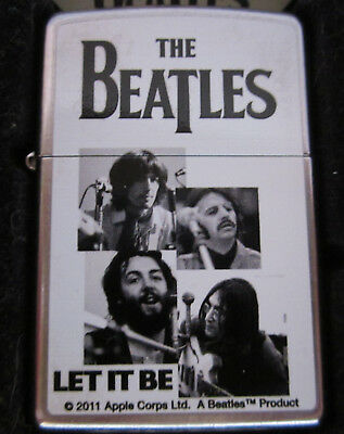 Vintage 2012 NEW Very RARE BEATLES LET IT BE ZIPPO LIGHTER NEW IN BOX