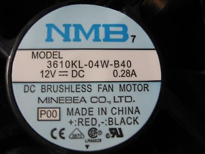"NMB DC Brushless Fan Motor 12V, 0.28A, 4""x4""x1"" (2 ct)"