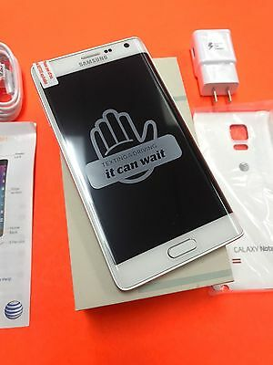 New Samsung Galaxy Note Edge SM-N915A 32GB Frost White AT&T Unlocked Smartphone