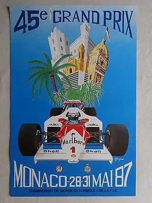 Monaco Lot De 7 Affiches Originales Grand Prix Formule 1
