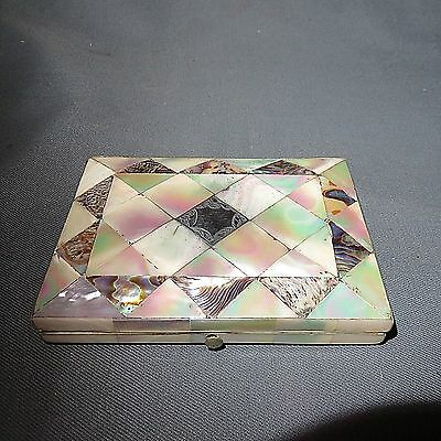 A SUPER 19th CENTURY VICTORIAN OPENING M.O.P. CARD CASE_SEE PHOTOS