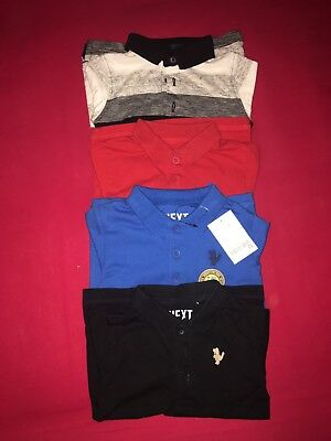 Next Baby Boy Long Sleeve Polos Set Of 4 Various Colours (One BNWT) 9-12 Months