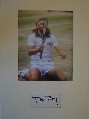 Bjorn Borj Tennis Legend Signed/ Autographed Photo with Certificate Authenticity