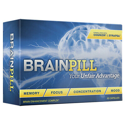 BRAINPILL Focus Supplement BOOST Memory Cognizin Synapse factor Brain Pill