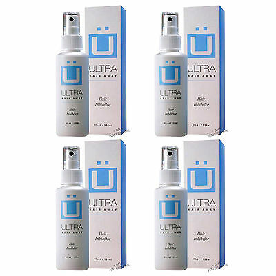 Ultra Hair Away Spray 4 Month Removal Growth Inhibitor No Shaving No Body Hair