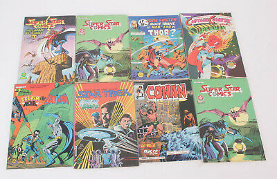 Lot 8 BD COMICS Divers Star Trek - Batman - Jane foster - Conan  - Super star...