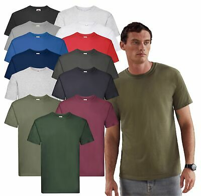 Fruit of the Loom Mens Super Premium Tee Crew Neck T Casual Cotton Blank T-Shirt