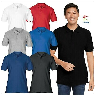 GILDAN Mens Premium Cotton Double Pique Sport Shirt New Casual Polo T Polo shirt