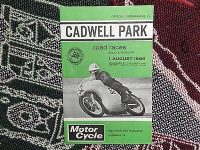 1965 Cadwell Park Programme 1/8/65 - Motorcycle Road Races