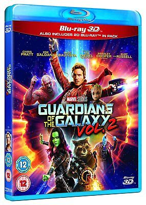 GUARDIANS OF THE GALAXY VOL. 2 3D [Blu-ray 3D + 2D] 2017 Marvel Volume Two Movie