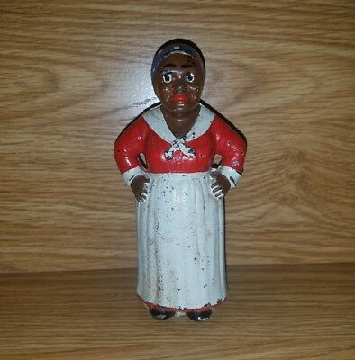 Antique Hubley Cast Iron Mammy Black Americana Still Bank!