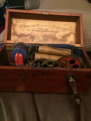 Rare Antique Magneto I Electric Shock Machine For Nervous Diseases