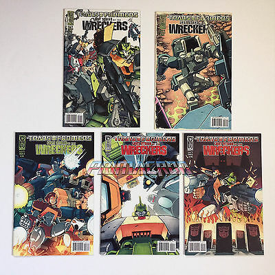Transformers IDW Last Stand of the Wreckers #1-5 Cover A FULL RUN Complete LSOTW