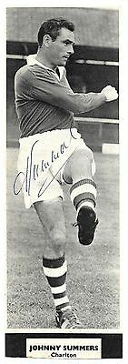 Charlton - Johnny Summers Signed