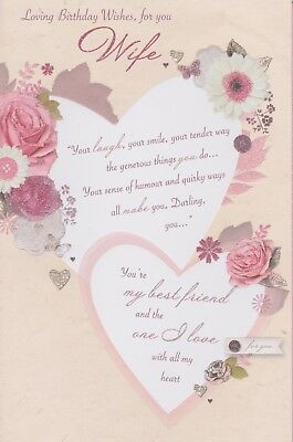Happy Birthday Card Special Wife 8 Page Insert Verse Greeting
