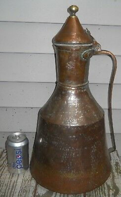 ANTIQUE OTTOMAN ERA COOPER JUG PITCHER TURKISH ISLAMIC HAND MADE Large