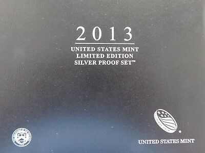 2013 U.S. Mint Limited Edition Silver Proof  Set; Orig Mint Packaging with C.O.A