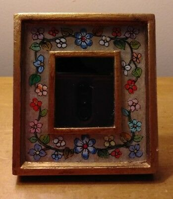 Vintage Peruvian Used Hand Made Folk Art Wooden Picture Frame