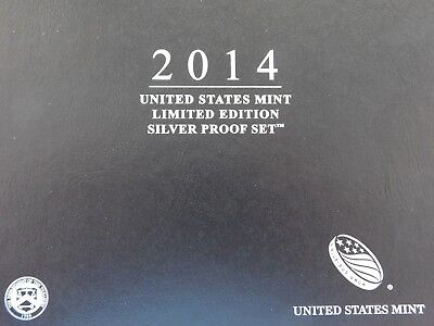 2014 U.S. Mint Limited Edition Silver Proof  Set; Orig Mint Packaging with C.O.A