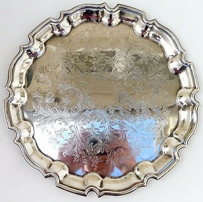 Silver Tray Circular Art Nouveau Form With Intricate Decoration