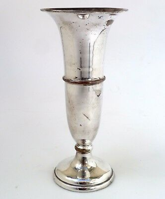 Vintage Silver  Vase Classic Form Made In England