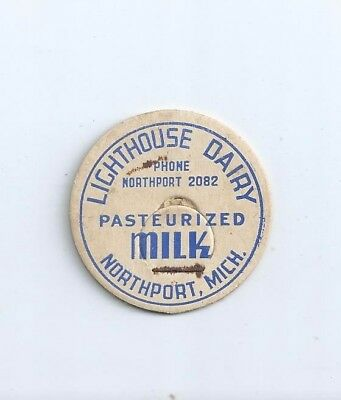 """Lighthouse Dairy""  Northport, Mich.  milk bottle cap."