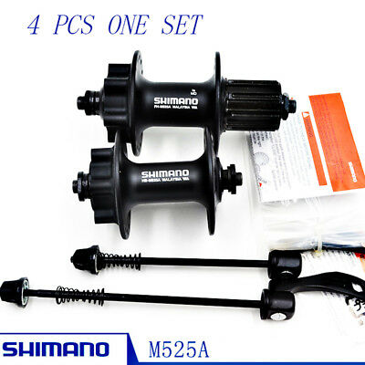 NEW Shimano HB-M525A / FH-M525A 32h Front & Rear 6-Bolt Disc Hub Black One Set