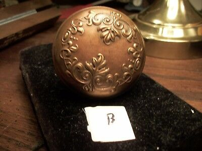 BRONZE-  Antique Bronze Door Knob -Old-Vintage-Decorative--Collection-Ornate -B
