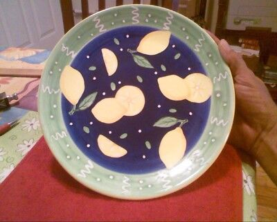 "Bella Casa By Ganz 10 1/4"" Plate With Lemons"