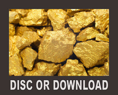 GOLD MINING, PROSPECTING, PANNING, MINES, Book Collection Scanned, Download/Disc