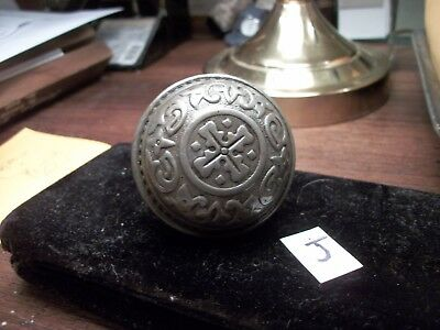 CAST IRON-OLD IRON Door Knob-Old-Vintage-Decorative--Collection-Orrnate -J