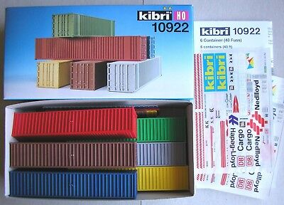 KIBRI HO 10922   40' Shipping Containers x 6  BRAND NEW