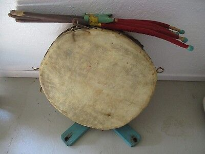 Antique Minnesota Chippewa Council Drum and Stand
