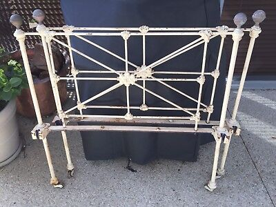 Antique Wrought-Iron Single Bed Frame
